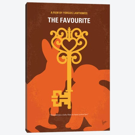 The Favourite Minimal Movie Poster Canvas Print #CKG1228} by Chungkong Canvas Art