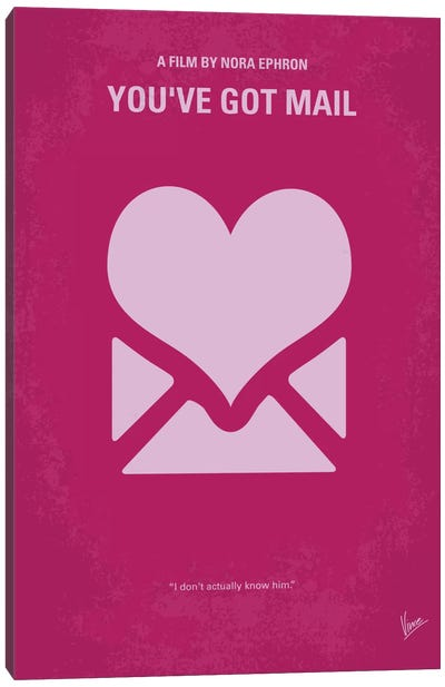 You've Got Mail Minimal Movie Poster Canvas Art Print