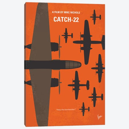 Catch 22 Minimal Movie Poster Canvas Print #CKG1231} by Chungkong Canvas Art Print