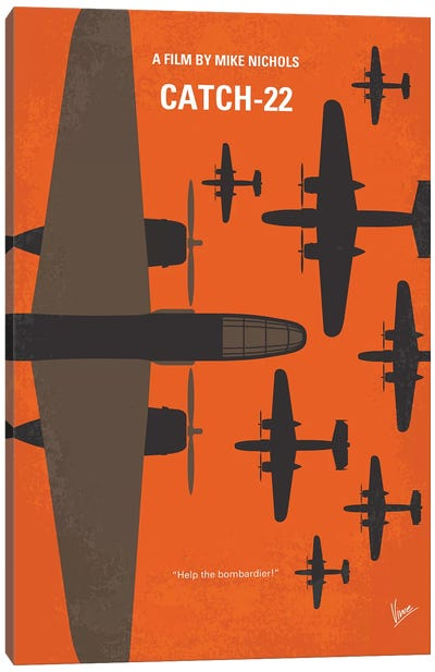 Catch 22 Minimal Movie Poster Canvas Art Print