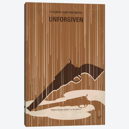 Unforgiven Minimal Movie Poster Canvas Print #CKG1234} by Chungkong Canvas Art