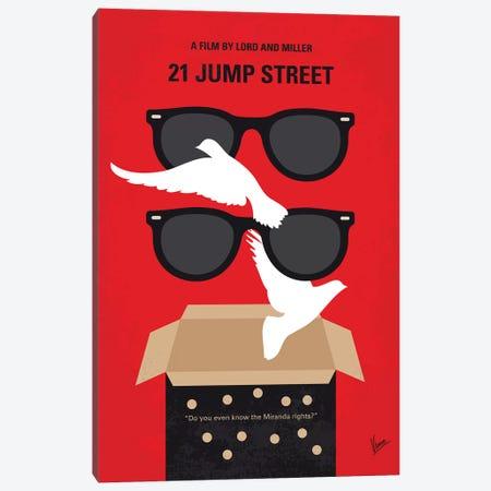 21 Jump Street Minimal Movie Poster Canvas Print #CKG1235} by Chungkong Canvas Wall Art