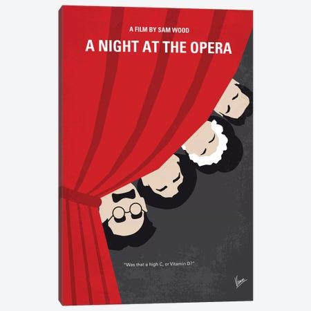 A Night At The Opera Minimal Movie Poster Canvas Print #CKG1237} by Chungkong Canvas Artwork