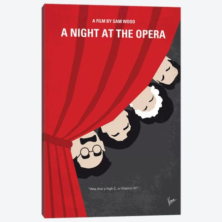 A Night At The Opera Minimal Movie Poster Canvas Print #CKG1237} by Chungkong Canvas Artwork