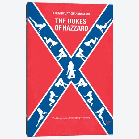 The Dukes Of Hazzard Minimal Movie Poster Canvas Print #CKG123} by Chungkong Canvas Wall Art