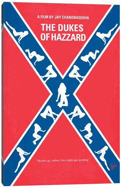 The Dukes Of Hazzard Minimal Movie Poster Canvas Print #CKG123
