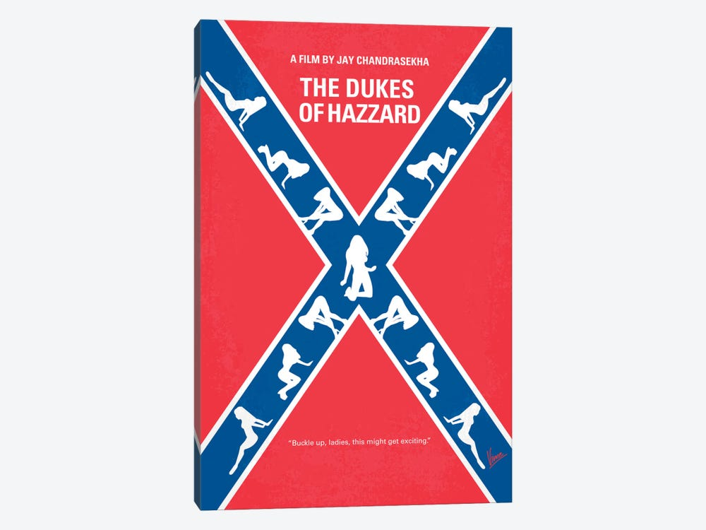 The Dukes Of Hazzard Minimal Movie Poster by Chungkong 1-piece Canvas Art Print