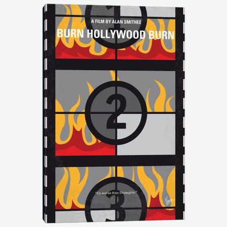 Burn Hollywood Burn Minimal Movie Poster Canvas Print #CKG1240} by Chungkong Canvas Artwork