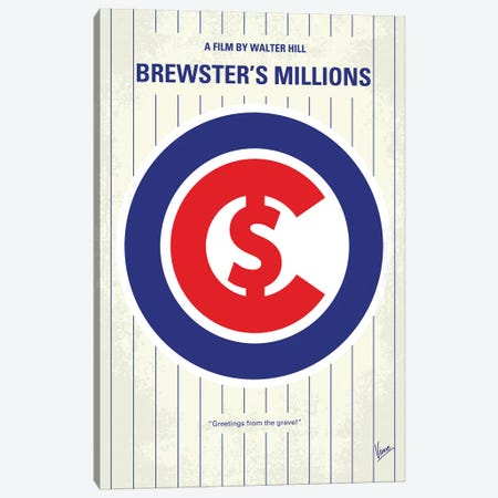 Brewsters Millions Minimal Movie Poster Canvas Print #CKG1241} by Chungkong Canvas Artwork
