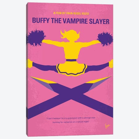 Buffy The Vampire Slayer Minimal Movie Poster 3-Piece Canvas #CKG1242} by Chungkong Canvas Wall Art