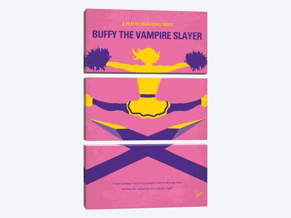 Buffy The Vampire Slayer Minimal Movie Poster by Chungkong 3-piece Canvas Artwork
