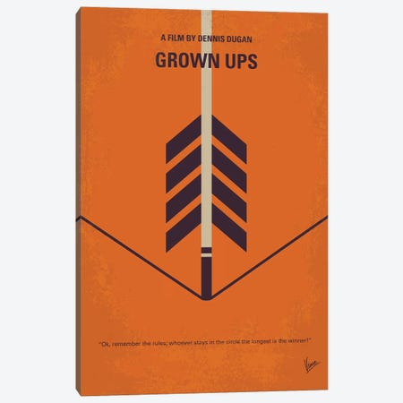 Grow Ups Minimal Movie Poster Canvas Print #CKG1243} by Chungkong Canvas Artwork