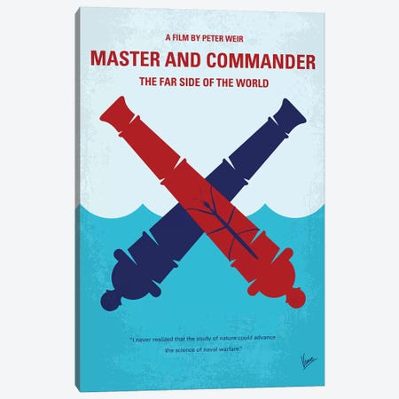Master And Commander Minimal Movie Poster Canvas Print #CKG1244} by Chungkong Canvas Print