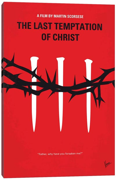 The Last Temptation Of Christ Minimal Movie Poster Canvas Art Print