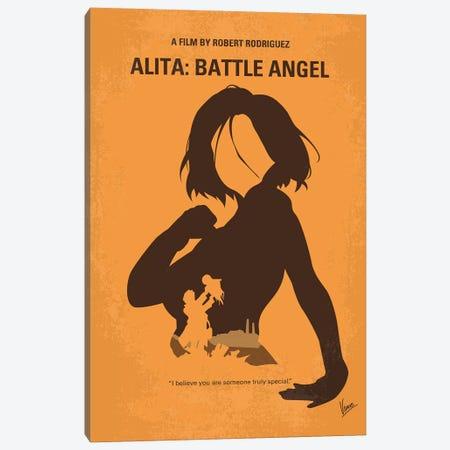 Alita Battle Angel Minimal Movie Poster Canvas Print #CKG1247} by Chungkong Art Print