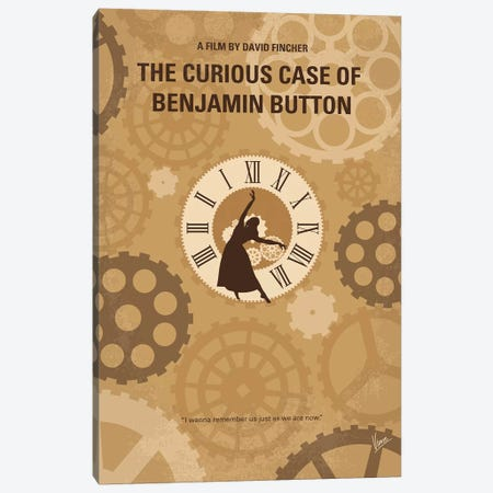 Curious Case Of Benjamin Button Minimal Movie Poster Canvas Print #CKG1252} by Chungkong Canvas Art Print