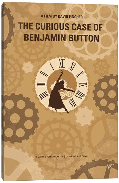 Curious Case Of Benjamin Button Minimal Movie Poster Canvas Art Print