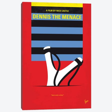 Dennis The Menace Minimal Movie Poster 3-Piece Canvas #CKG1257} by Chungkong Canvas Artwork