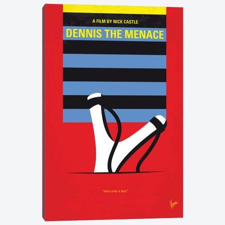 Dennis The Menace Minimal Movie Poster Canvas Print #CKG1257} by Chungkong Canvas Artwork