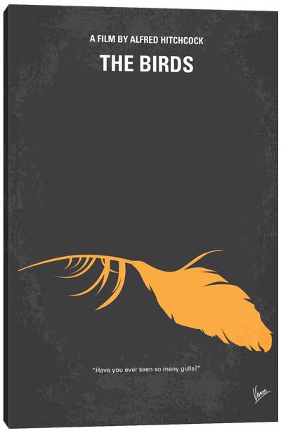 Birds Minimal Movie Poster Canvas Art Print