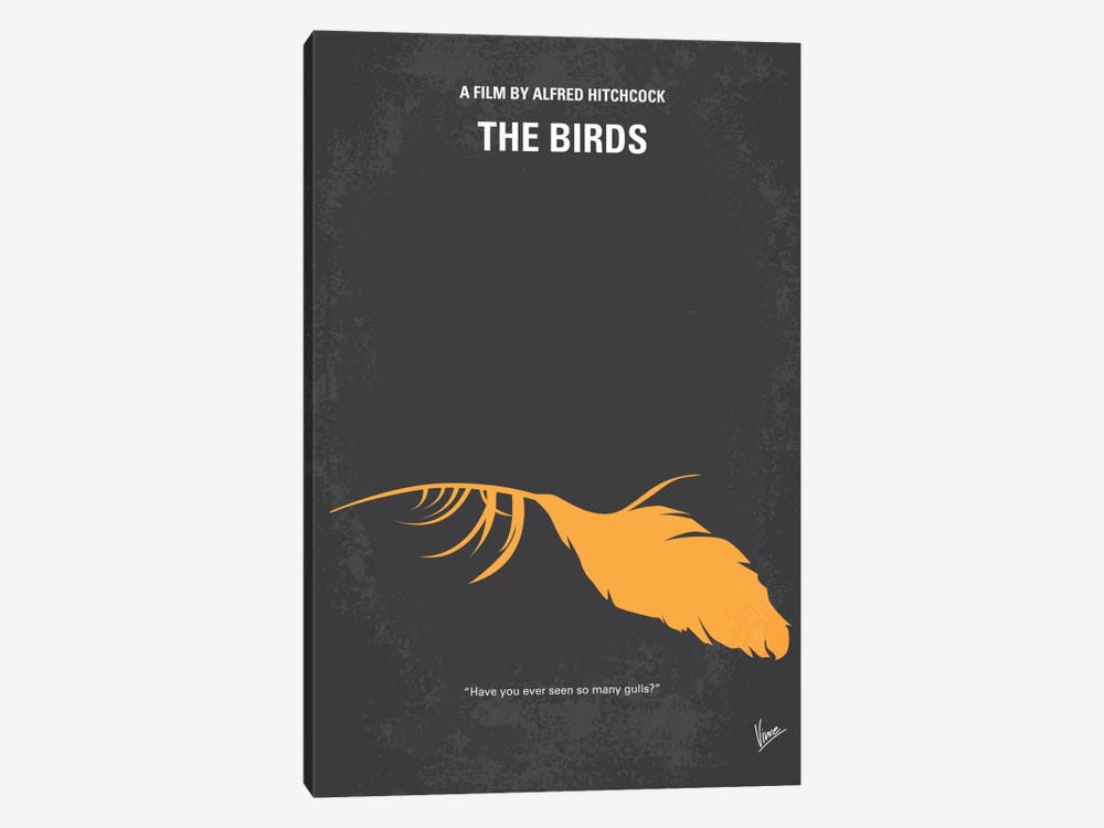 Birds Minimal Movie Poster by Chungkong 1-piece Art Print