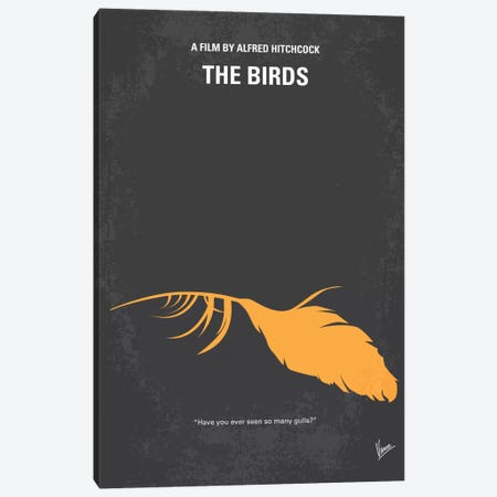 Birds Minimal Movie Poster Canvas Print #CKG125} by Chungkong Canvas Art Print