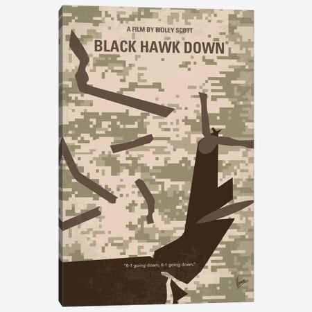 Black Hawk Down Minimal Movie Poster Canvas Print #CKG1260} by Chungkong Canvas Art