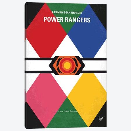 Power Rangers Minimal Movie Poster Canvas Print #CKG1261} by Chungkong Canvas Artwork
