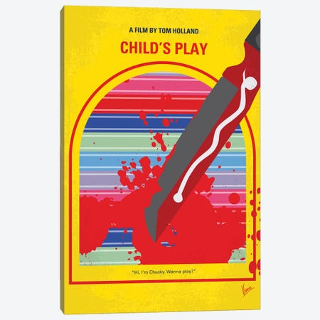 Childs Play Minimal Movie Poster Canvas Print #CKG1263} by Chungkong Canvas Wall Art