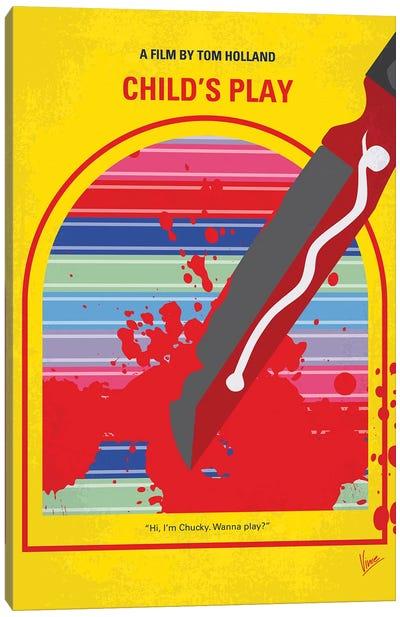 Childs Play Minimal Movie Poster Canvas Art Print