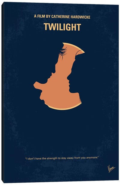 Twilight I Minimal Movie Poster Canvas Art Print
