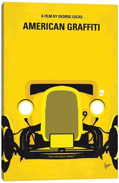 American Graffiti Minimal Movie Poster Canvas Art Print