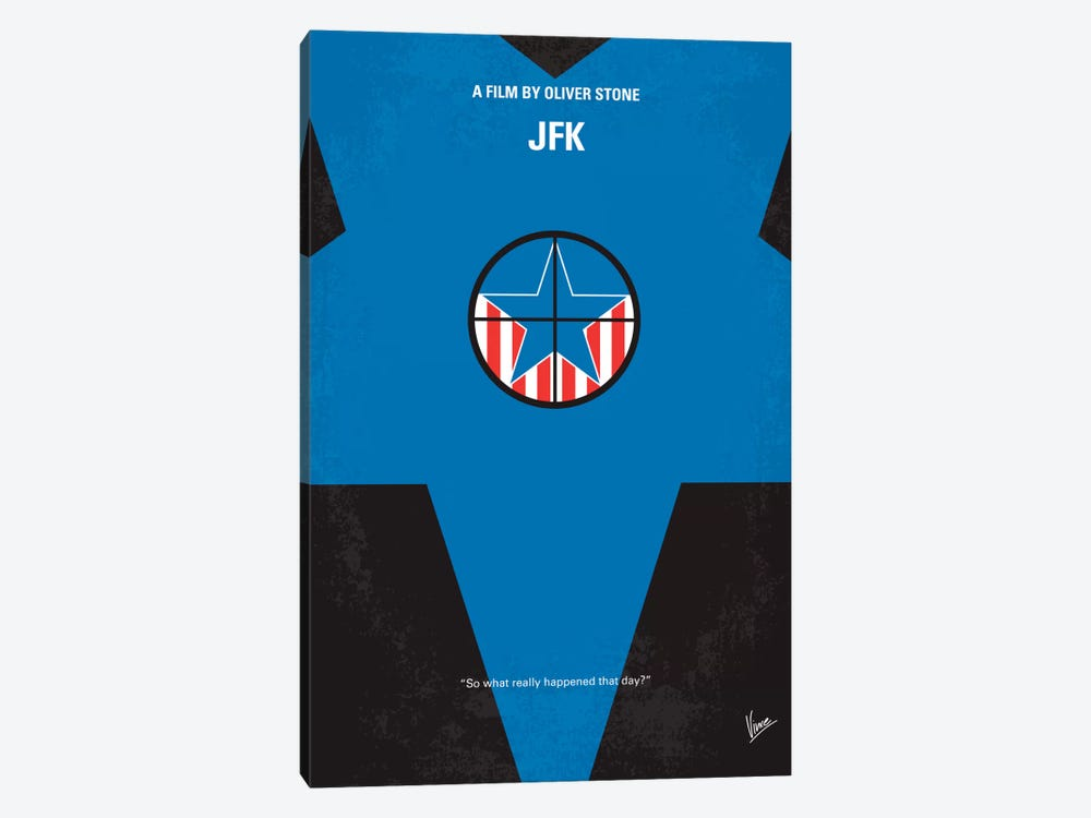 Jfk Minimal Movie Poster by Chungkong 1-piece Canvas Artwork