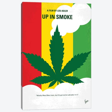 Up In Smoke Minimal Movie Poster 3-Piece Canvas #CKG1273} by Chungkong Art Print