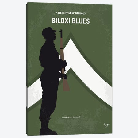 Biloxi Blues Minimal Movie Poster Canvas Print #CKG1279} by Chungkong Art Print