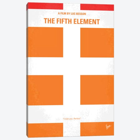 Fifth Element Minimal Movie Poster Canvas Print #CKG127} by Chungkong Canvas Art Print