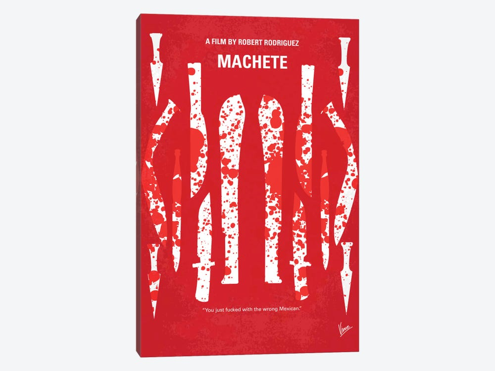 Machete Minimal Movie Poster by Chungkong 1-piece Canvas Wall Art