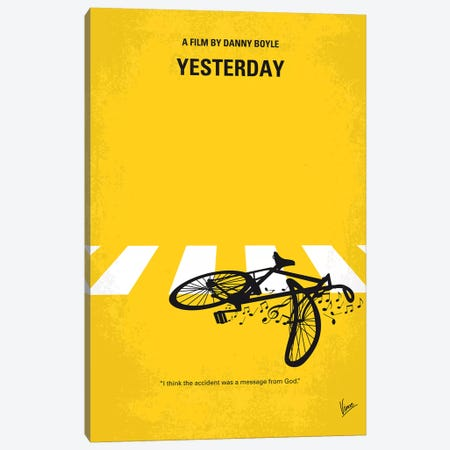 Yesterday Minimal Movie Poster Canvas Print #CKG1290} by Chungkong Art Print