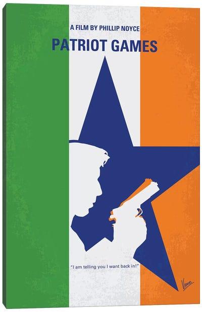 Patriot Games Minimal Movie Poster Canvas Art Print