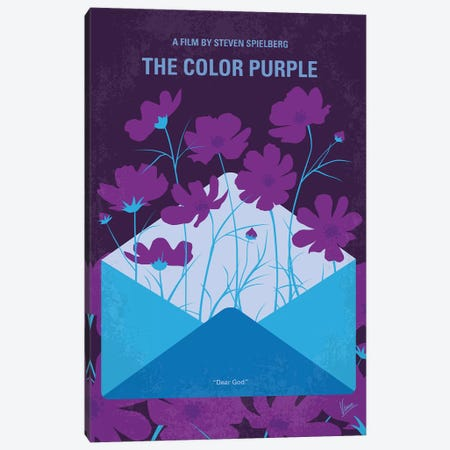 The Color Purple Minimal Movie Poster Canvas Print #CKG1293} by Chungkong Art Print