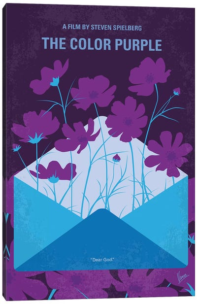 The Color Purple Minimal Movie Poster Canvas Art Print