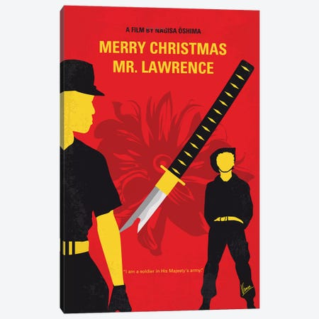 Merry Christmas Mr Lawrence Minimal Movie Poster Canvas Print #CKG1299} by Chungkong Canvas Art Print
