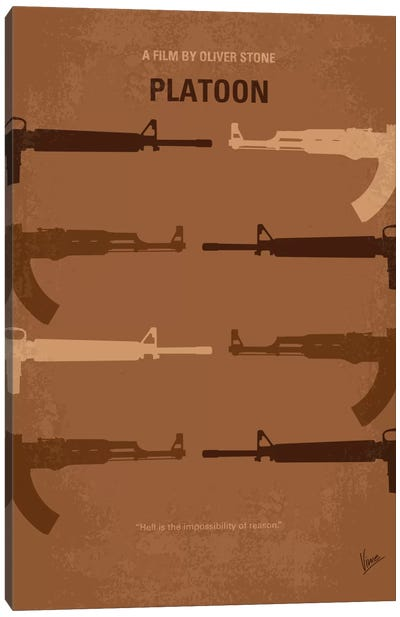 Platoon Minimal Movie Poster Canvas Art Print