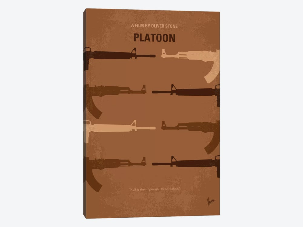 Platoon Minimal Movie Poster by Chungkong 1-piece Art Print
