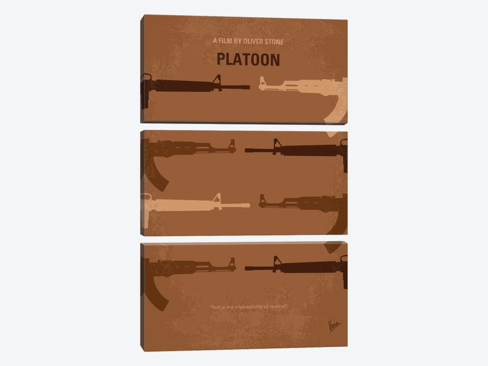 Platoon Minimal Movie Poster by Chungkong 3-piece Art Print