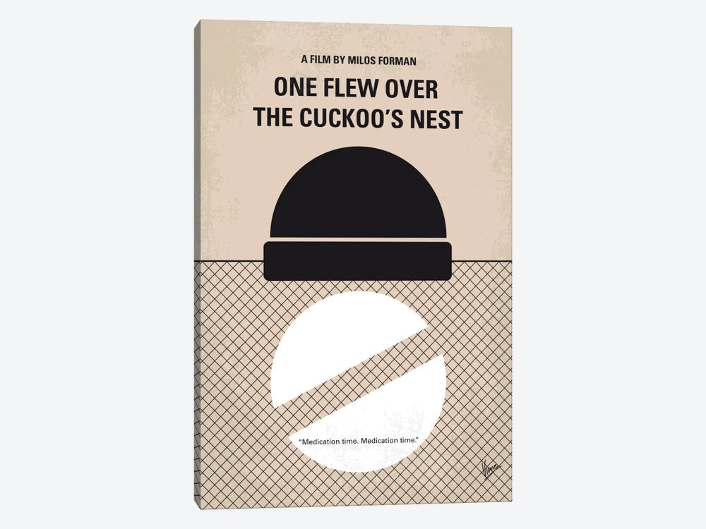 One Flew Over The Cuckoo's Nest Minimal Movie Poster 1-piece Canvas Art