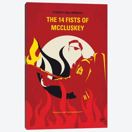 The 14 Fists Of Mccluskey Minimal Movie Poster Canvas Print #CKG1302} by Chungkong Canvas Art Print