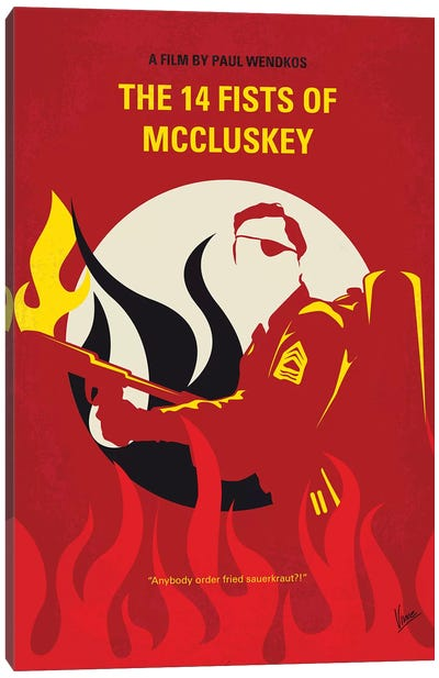 The 14 Fists Of Mccluskey Minimal Movie Poster Canvas Art Print