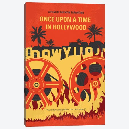 Once Upon A Time In Hollywood Minimal Movie Poster Canvas Print #CKG1304} by Chungkong Canvas Artwork