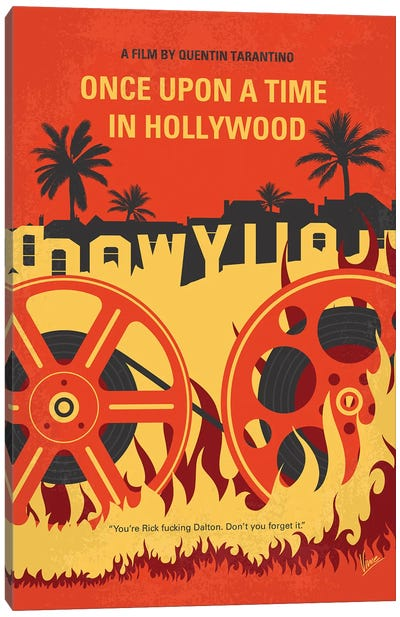Once Upon A Time In Hollywood Minimal Movie Poster Canvas Art Print